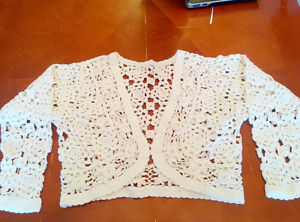 White crochet jacket, Small