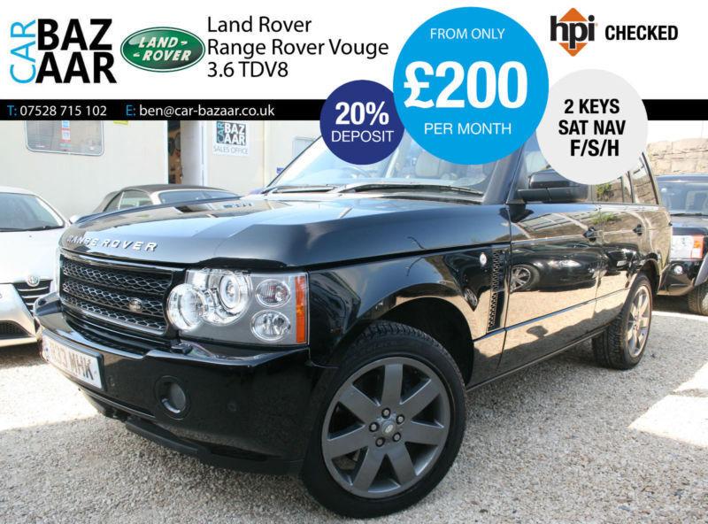 Land Rover Range Rover 3.6TD V8 auto Vogue+F/S/H+NAV+JUST SERVICED