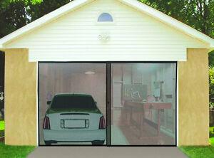 Brand New Double Garage Door Screen High Quality Nylon Mesh