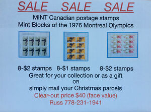 1976 Canadian Montreal Olympic plate blocks at giveaway price