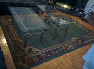 GLASS Coffee table and side tables