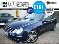 Mercedes-Benz CLK350 3.5 7G-Tronic Sport+F/MB/H+LOW MILEAGE+NOV 17 MOT+