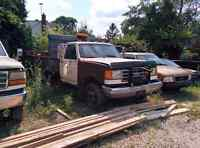 Parting out F-350 dump truck