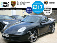 Porsche Cayman 2.7+F/PS/H+6 M WARRANTY+JUNE 17 MOT+2 KEYS+