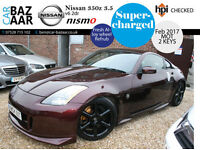 Nissan 350Z 3.5 V6 GT Pack+SUPERCHARGED+INCREDIBLY FAST CAR+ONE OFF