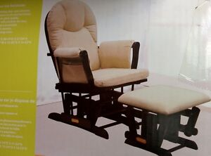 GLIDING ARM-CHAIR WITH MATCHING GLIDING OTTOMAN - SEALED IN BOX