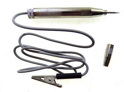 KFZ Spannungsprüfer 6-24V Stromprüfer ganzmetall Prüflampe mit Nadel und Kappe