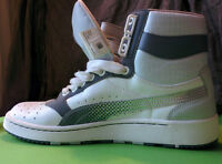 PUMA High-top shoes. Size 7/8, Leather, NEW. Espadrilles NEUFS