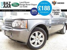 Land Rover Range Rover 3.6TD V8 auto Vogue+2 OWNERS+11 STAMPS+REAR DVD+