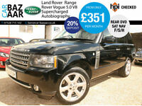 Land Rover Range Rover 5.0 V8 Supercharged auto Autobiography+F/S/H+REAR DVD+NAV