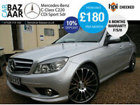 Mercedes-Benz C220 2.1TD auto CDI Sport+F/S/H+COMMAND+19 INCH ALLOYS+2 KEYS