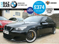 BMW M5 5.0 SMG M5+2 OWNERS+F/S/H+HEADS UP DISPLAY+UNQUIE LOOK