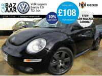 Volkswagen Beetle 1.9TDI+LOW MILEAGE+2 OWNERS+CAMBELT DONE+2 KEYS