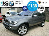 BMW X5 3.0d auto Sport+F/S/H+APRIL 2018 MOT+2 KEYS