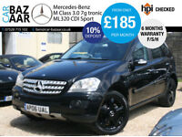 Mercedes-Benz ML320 3.0TD CDI 7 G-Tronic Sport+F/S/H+6 MONTH WARRANTY+AUG MOT