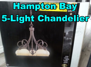 Hampton Bay 5-Light Chandelier - New, unopened - $25 OBO