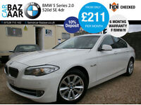 BMW 520 2.0TD d SE+F/BMW/H+SAT NAV+6 M WARRANTY+2 OWNERS+2 KEYS