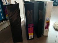 4 binders of different sizes for free