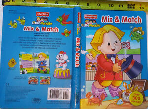 Fisher Price Little People Mix and Match Spiral Book