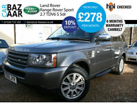 Land Rover Range Rover Sport 2.7TD V6 auto S+CAMBELT DONE+4 NEW TYRES