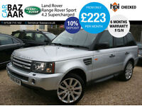 Land Rover Range Rover Sport 4.2 V8 auto Supercharged+F/S/H+6 MONTH WARRANTY+