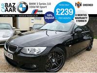 BMW 330D 3.0 M Sport Coupe+F/BMW/H+6 M WARRANTY+2 OWNERS+2 KEYS+