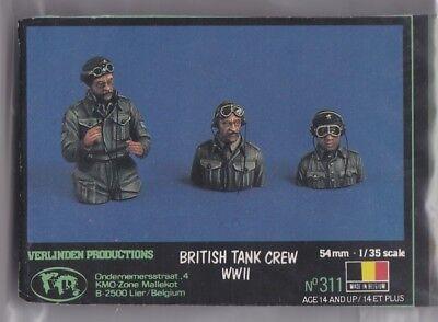 VERLINDEN 311 BRITISH TANK CREW WWII NO BOX 1/35 RESIN KIT