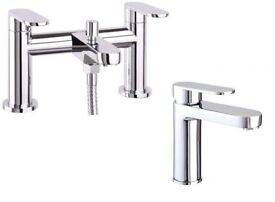 Brand new bath and basin mixer taps set.