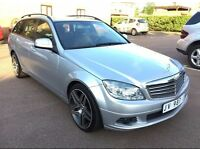 LHD LEFT HAND DRIVE MERCEDES C200 CDI 2007 AUTOMATIC BUSINESS ELEGANCE SAT NAV LEATHERFULLY LOADED