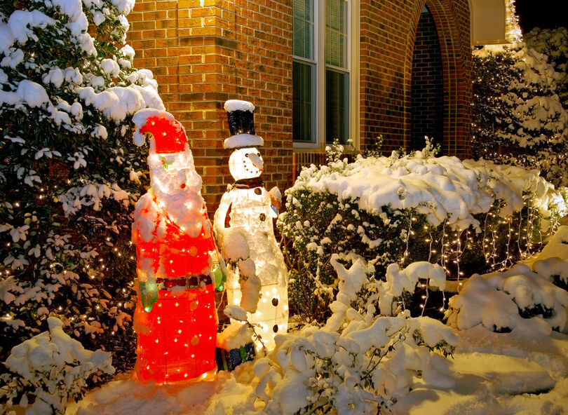 weihnachtsmann beleuchtung f r drinnen und drau en ebay. Black Bedroom Furniture Sets. Home Design Ideas