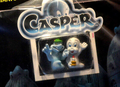 n. 2 CASPER scenario animato + due esclusivi pupazzetti dipinti a mano 1995