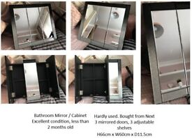 Very smart NEXT bathroom mirror / cabinet