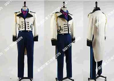 Frozen Snow Hans Prince Elsa Anna Tails Coat Cosplay Costume HK Express Shipping ()