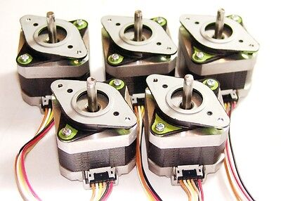 5 Nema 17 Shinano-kenshi Stepper Motors Mill Robot Reprap Makerbot Prusa Ready