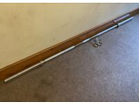 """Brand-NEW 7ft 2"""" Olympic 20KG Weightlifting Barbell 400kg rated weight new 2 Clips Included"""