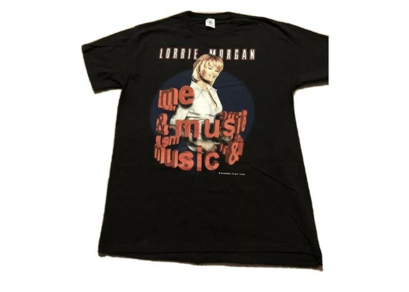 Vintage Lorrie Morgan The Music & Me 1998 Tour T Shirt Size XXL