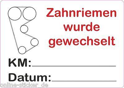 25 Stück Serviceaufkleber Service Aufkleber KFZ Auto Zahnriemen gewechselt 50x37