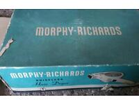 Vintage Morphy Richards hairdryer. In the box