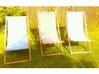 Garden vintage deck chairs