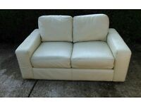 Nice 2 seater cream leather sofa from Ikea. Can Deliver