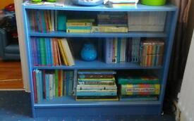 Blue book shelf
