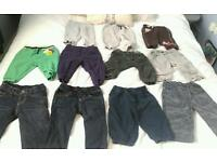 12 pairs of baby boys trousers 6-9 months