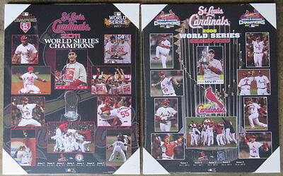 Pair of St. Louis Cardinals World Series Championship Picture Plaques 2011, (St Louis Cardinals World Series Championships 2011)