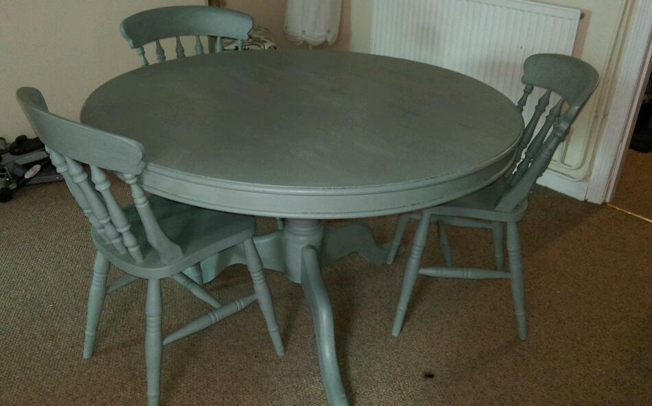 Annie Sloan Duck egg blue dining table and chairs in  : 86 from www.gumtree.com size 950 x 592 jpeg 59kB