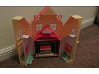 Peppa pig - 6 houses in one and furniture