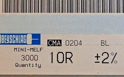 3000pcs Resistor Smd 10r 10 Ohm Minimelf 2 0.4w Cma0204bl 10r Beyschlag