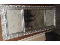Silver antique mirror