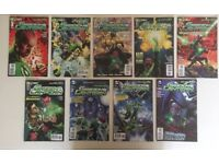 MINT condition - Green Lantern DC New 52 Comic Books Issues #1-9 including First Print Editions