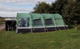 Large Hi Gear Corado 6 - six berth frame tent + footprint ground sheet & carpet