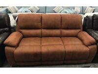 High retail tan faux suede 3 seater sofa